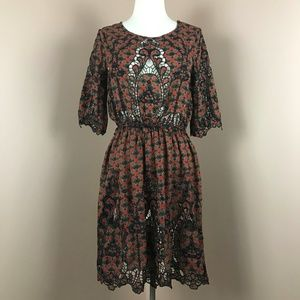Anthropologie︱Meadow Rue  Dress Eyelet Cut Outs